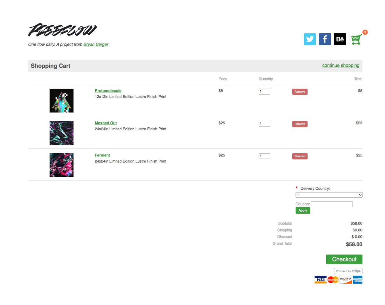 Shop Checkout Page