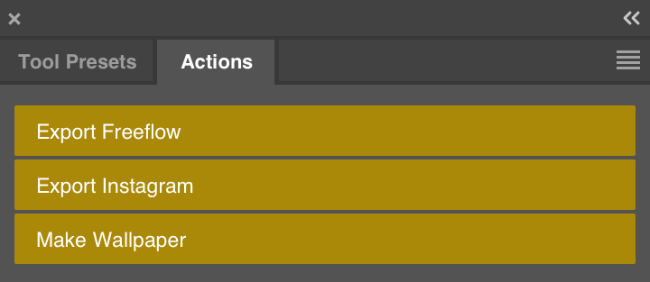 Custom PS Actions